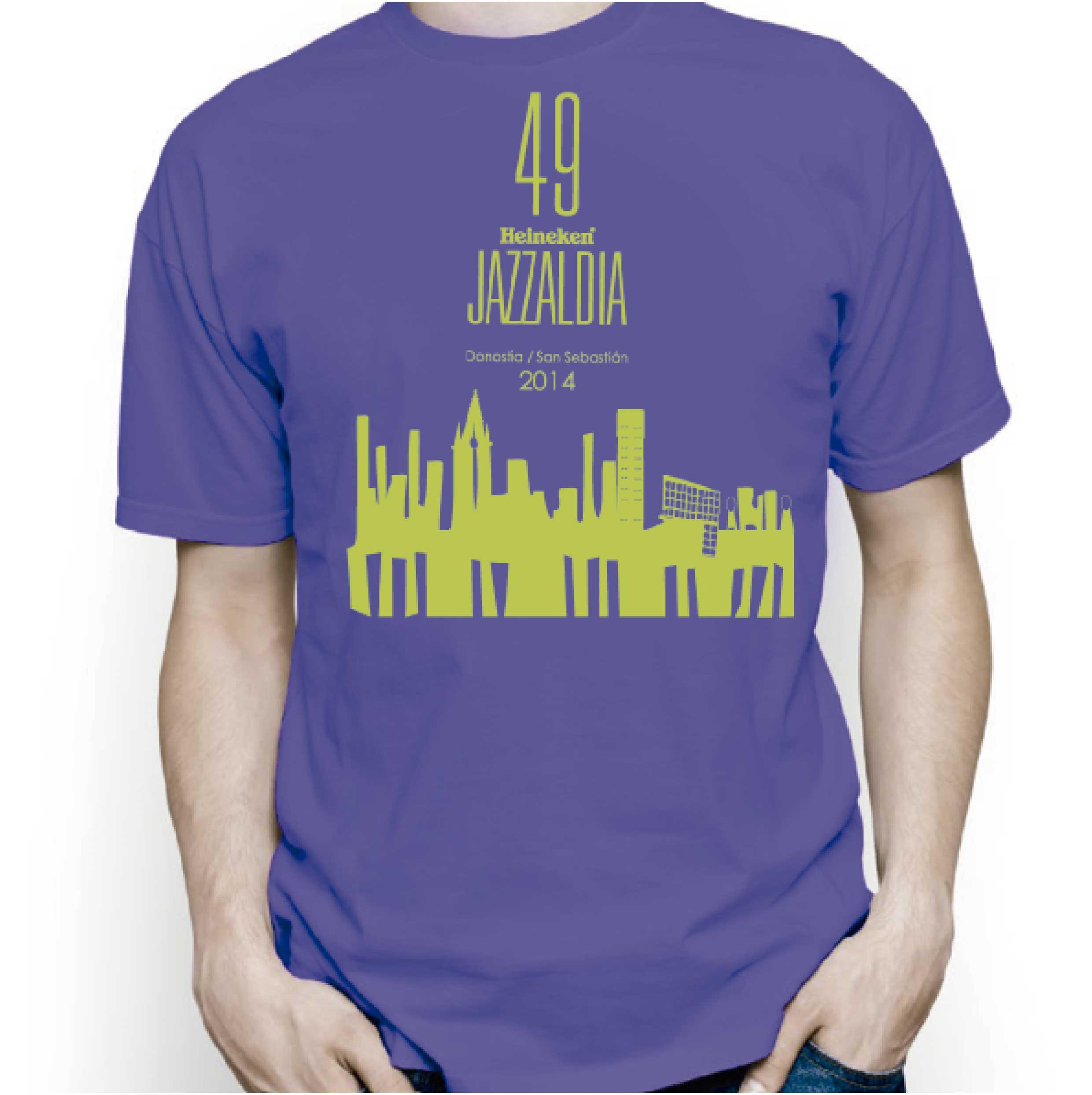 camiseta jazzaldia adulto